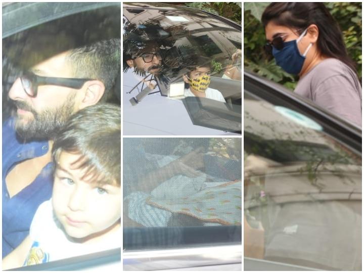 अस्पताल से डिस्चार्ज हुईं करीना कपूर, पति सैफ और बेटे तैमूर के साथ बेबी ब्वॉय को लेकर पहुंची घर, देखें तस्वीरें