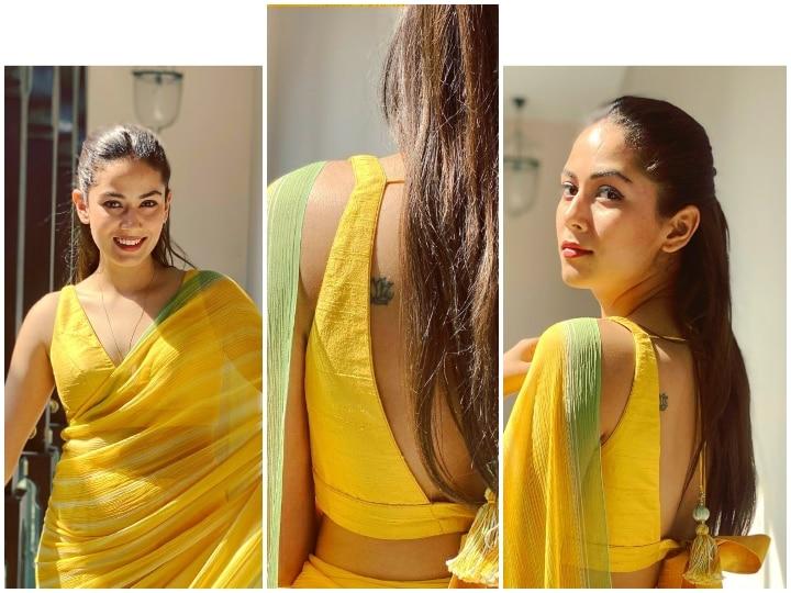 पीली साड़ी में दिखीं शाहिद कपूर की बीवी मीरा, फ्लॉन्ट किया टैटू, ब्यूटी देख थम बने लोगों की निगाहें