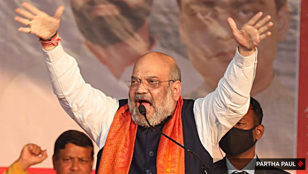 Home Minister of India, Home Minister Amit Shah, Amit Shah news, Amit Shah on Congress, Amit Shah on Rahul Gandhi, Amit Shah Puducherry, india news, indian express