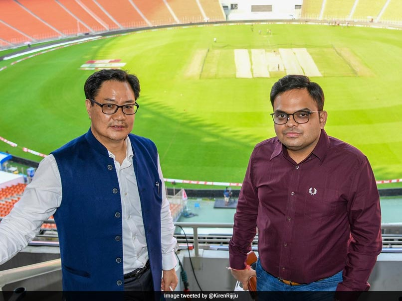 India vs England: Kiren Rijiju And Jay Shah Visit Mesmerising Hall Of Fame Zone At Motera Stadium