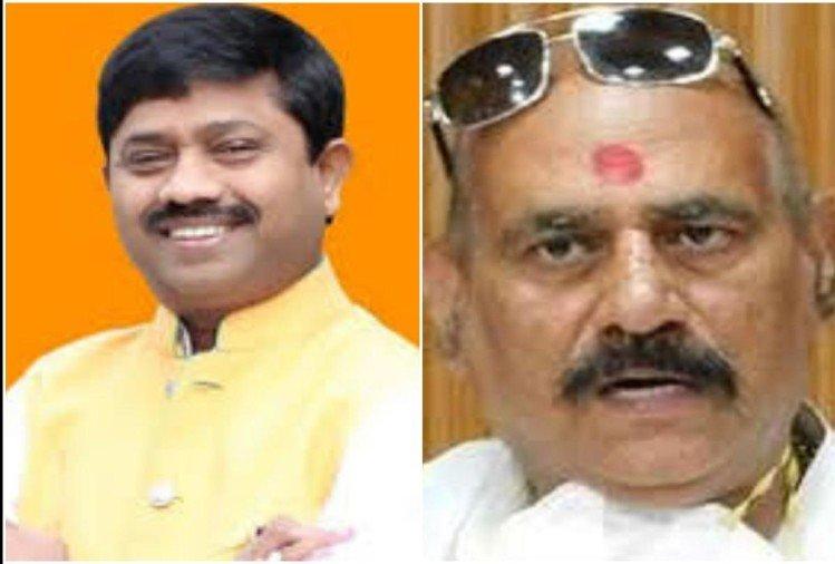 prayagraj news : मंत्री नंद गोपाल गुप्ता नंदी और ज्ञानपुर विधायक विजय मिश्र (फाइल फोटो)।