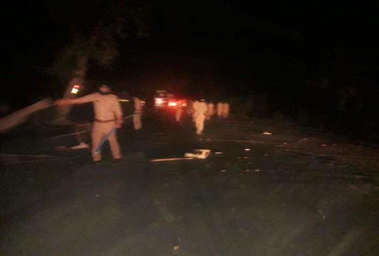 prayagraj news : सैदाबाद में ग्रामीणों ने जीटी रोड पर जमकर उत्पात किया।