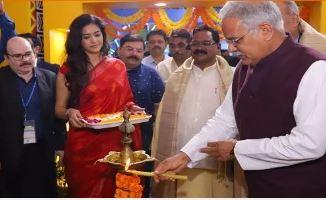 मुख्यमंत्री भूपेश बघेल ने भारत अंतर्राष्ट्रीय व्यापार मेले में छत्तीसगढ़ पवेलियन का किया उद्घाटन