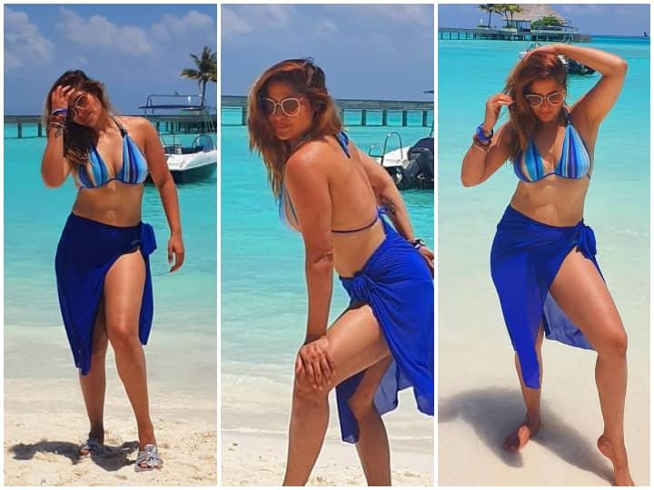 मालदीव पहुंचीं एक्ट्रेस आरती सिंह, ब्लू बिकिनी में दिखाए गए सेक्सी अवतार, देखें तस्वीरें