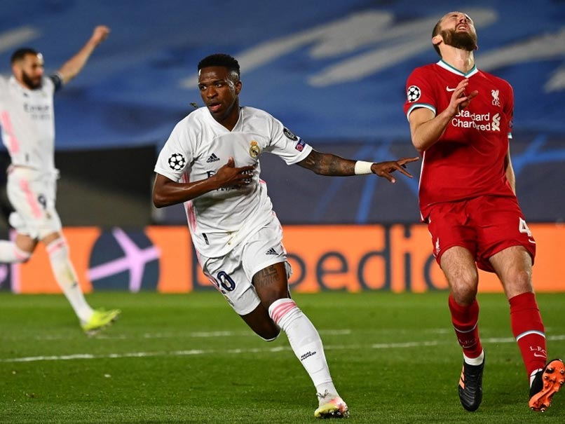 Champions League Quarterfinal, 1st Leg: Vinicius Junior Double Puts Real Madrid On Top Against Liverpool