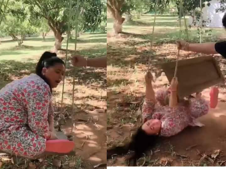 बाग में झूला झुलते हुए धड़ाम से गिरीं भारती सिंह ने कहा- गिर-गिरकर ही संभला जाता है